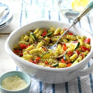 Garden Pesto Pasta Salad
