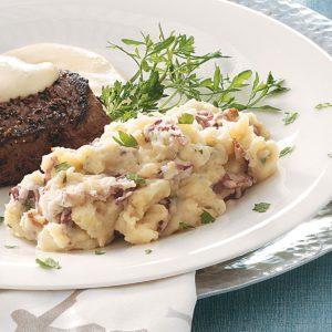 Garlic, Bacon & Stilton Mashed Potatoes