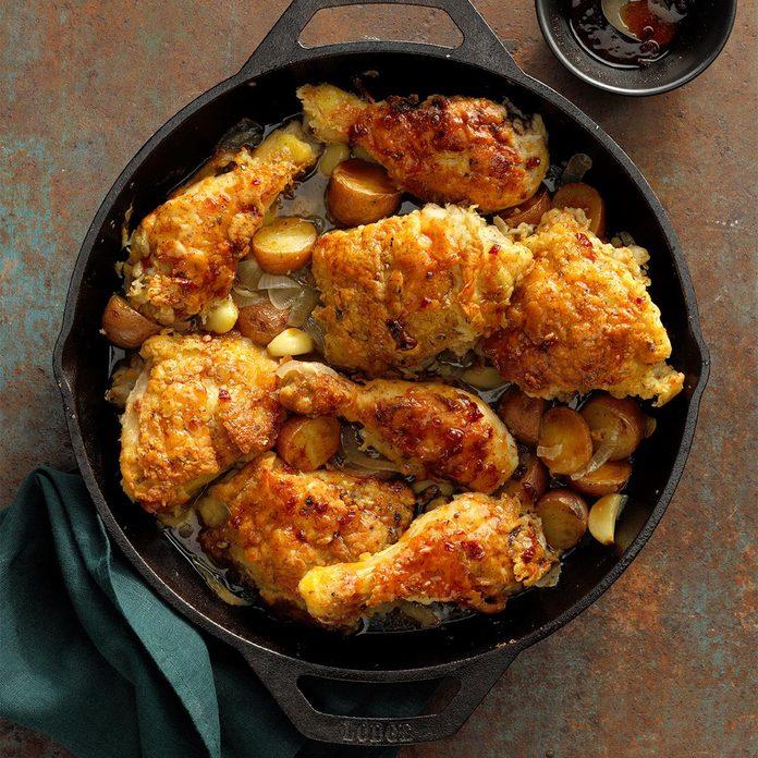 Garlic Chicken with Maple-Chipotle Glaze