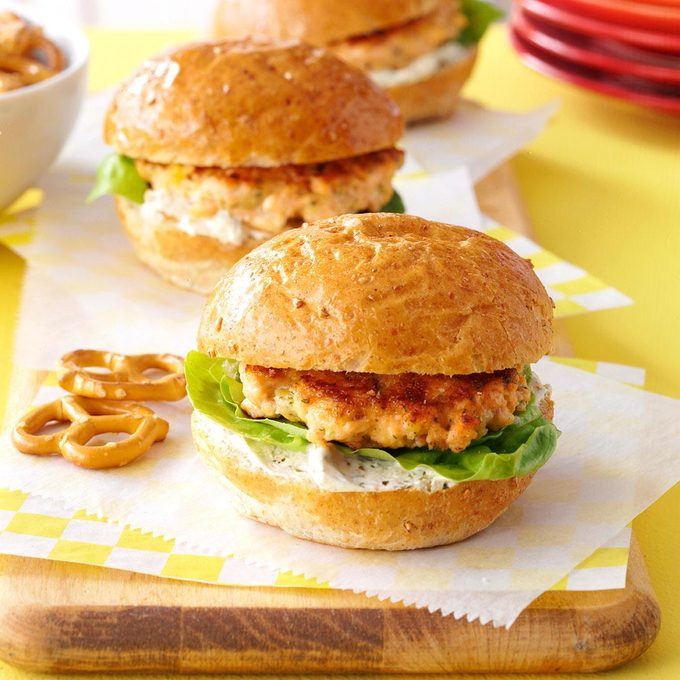 Garlic-Herb Salmon Sliders