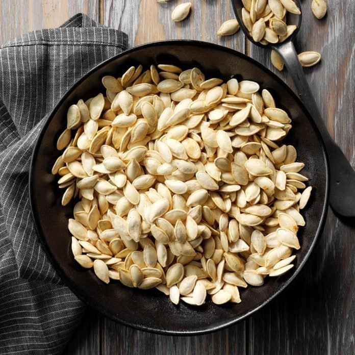 Garlic pumpkin seeds
