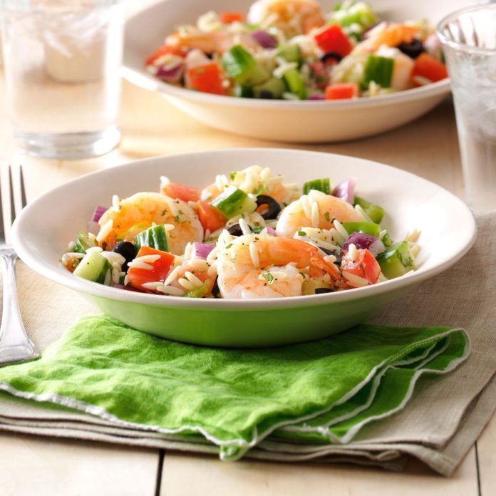 Garlic Shrimp & Orzo Salad