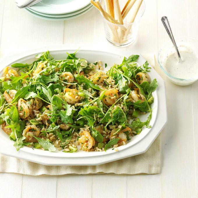 Garlic Shrimp & Rice Salad