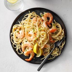 Garlic Shrimp Spaghetti