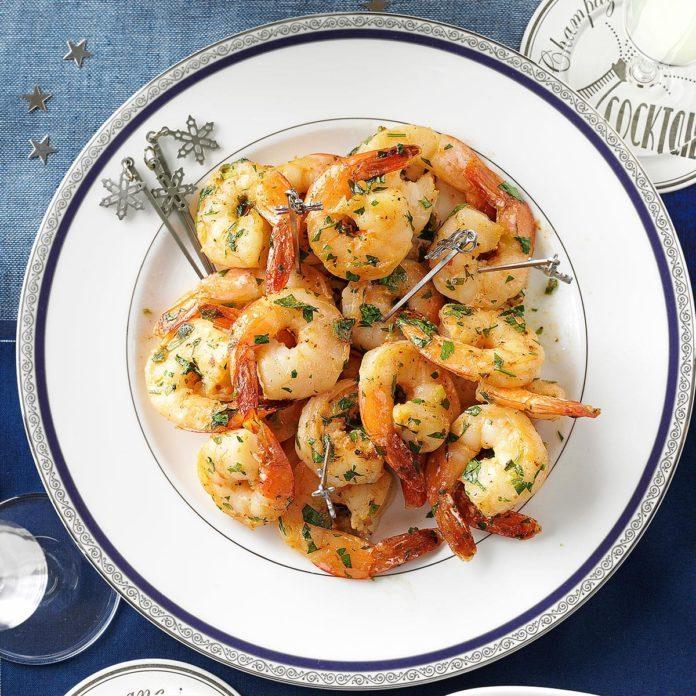 Garlicky Herbed Shrimp