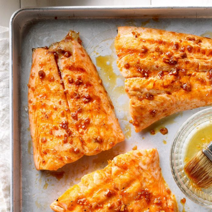 Ginger-Glazed Grilled Salmon