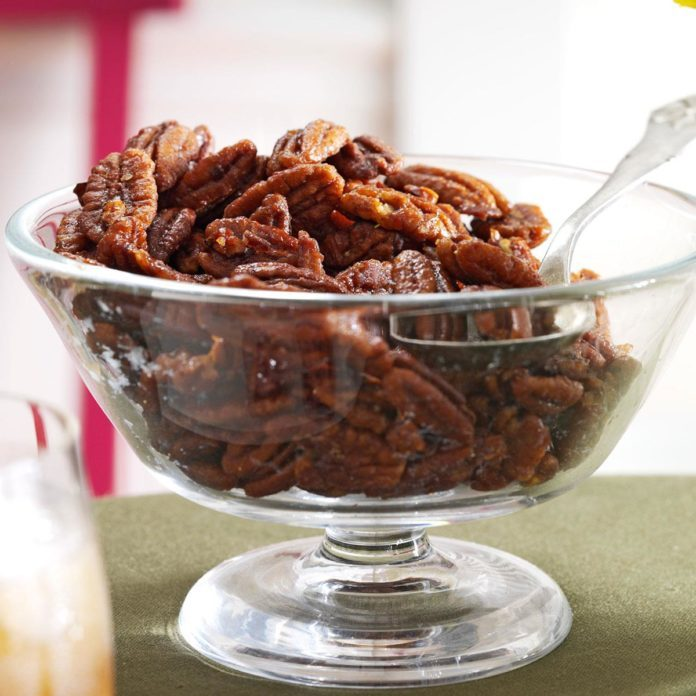 Ginger-Maple Roasted Pecans