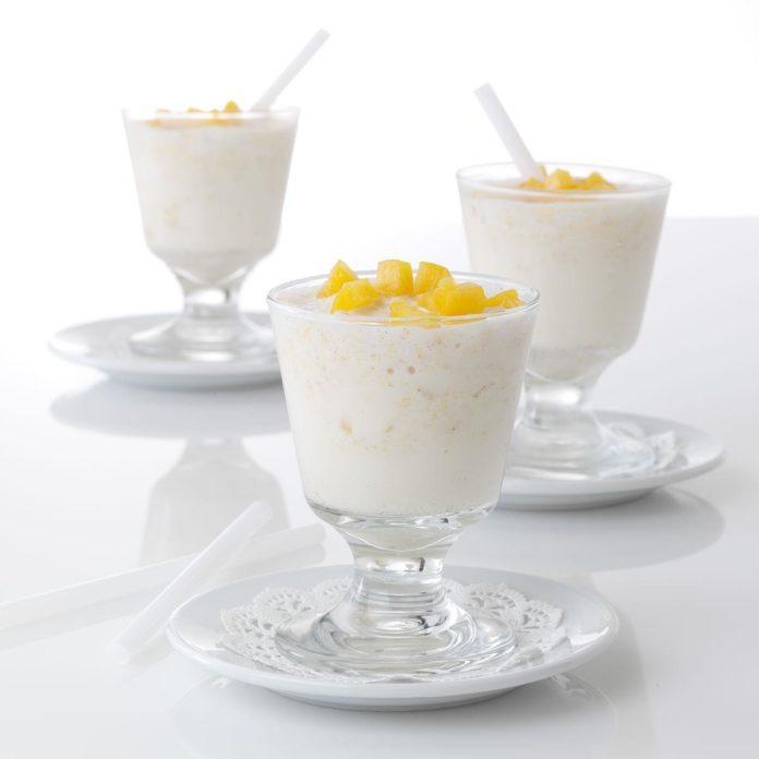 Ginger-Peach Milk Shakes