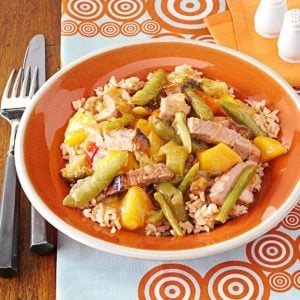 Ginger-Peach Pork Skillet