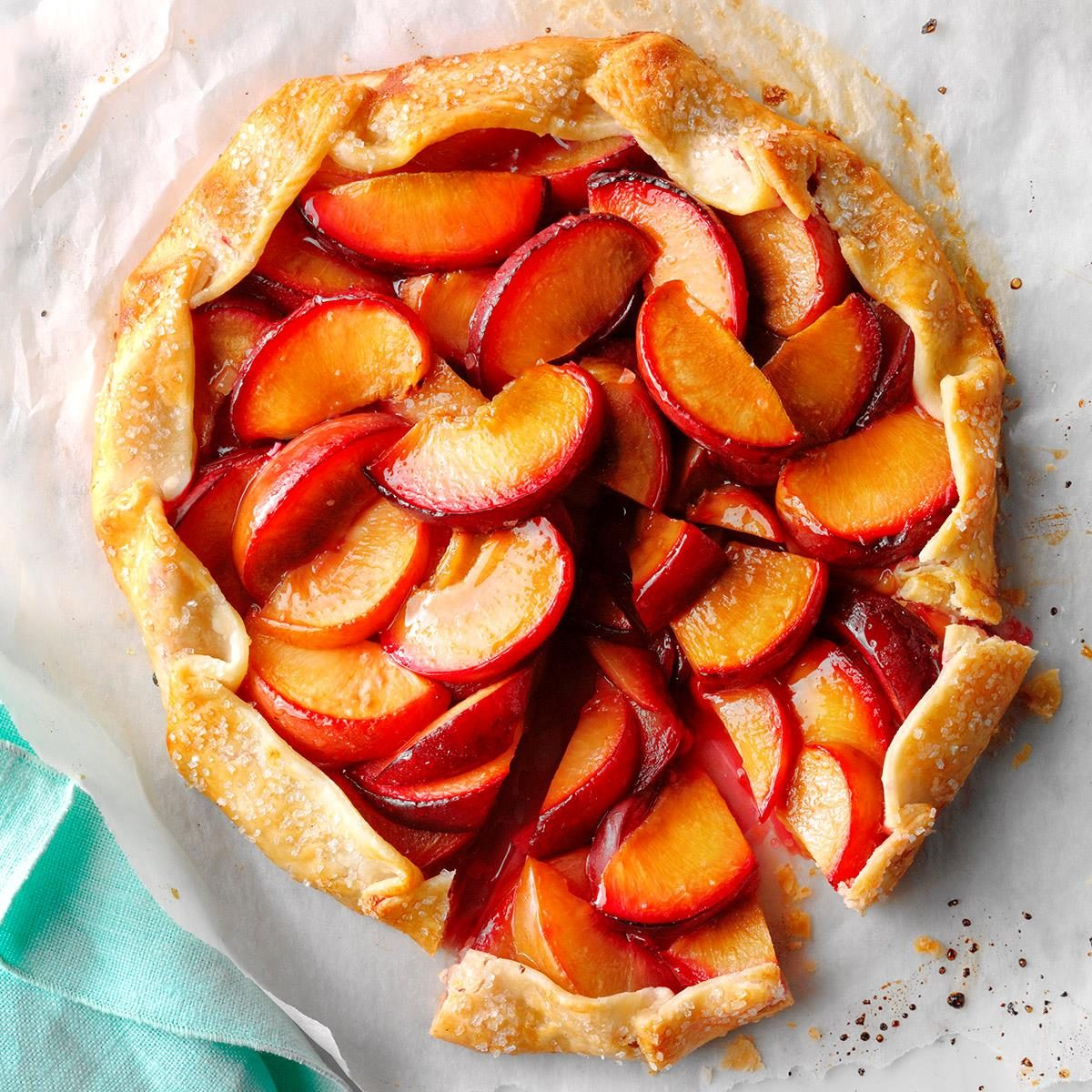 Plums: Ginger Plum Tart