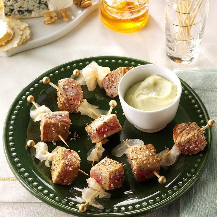 Ginger-Tuna Kabobs