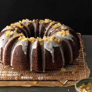 Ginger-Walnut Tube Cake