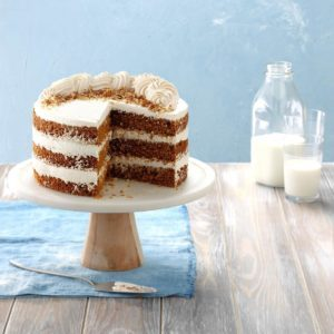 Gingerbread Cake with Whipped Cream Frosting