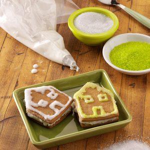 Gingerbread House Sandwich Cookies
