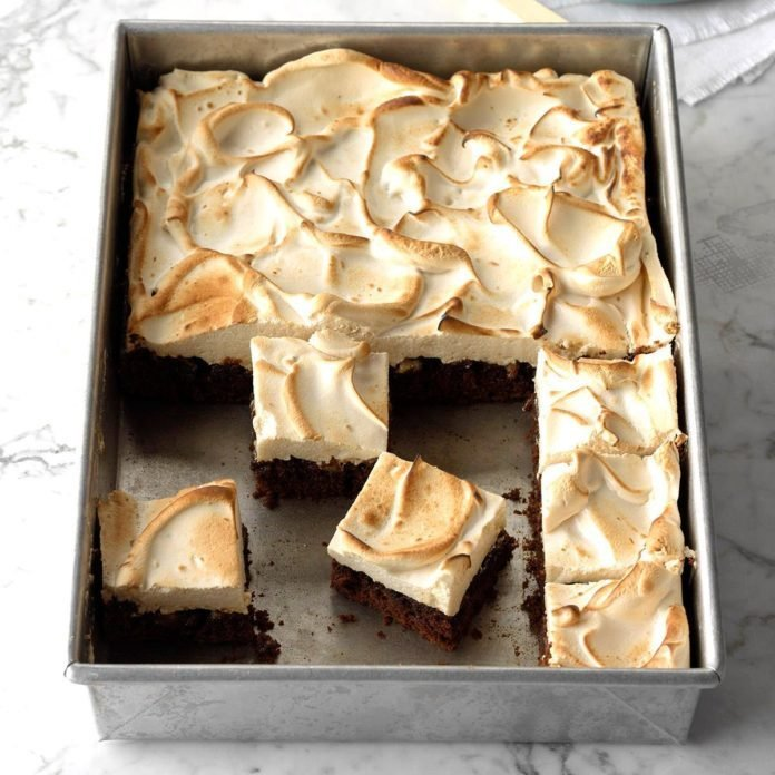 Gingerbread Meringue Bars