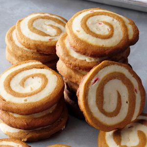 Gingerbread Peppermint Pinwheels
