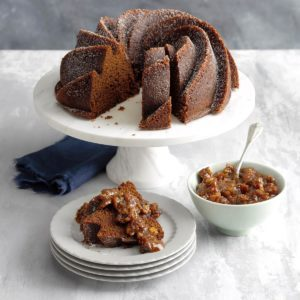 Gingerbread with Fig-Walnut Sauce