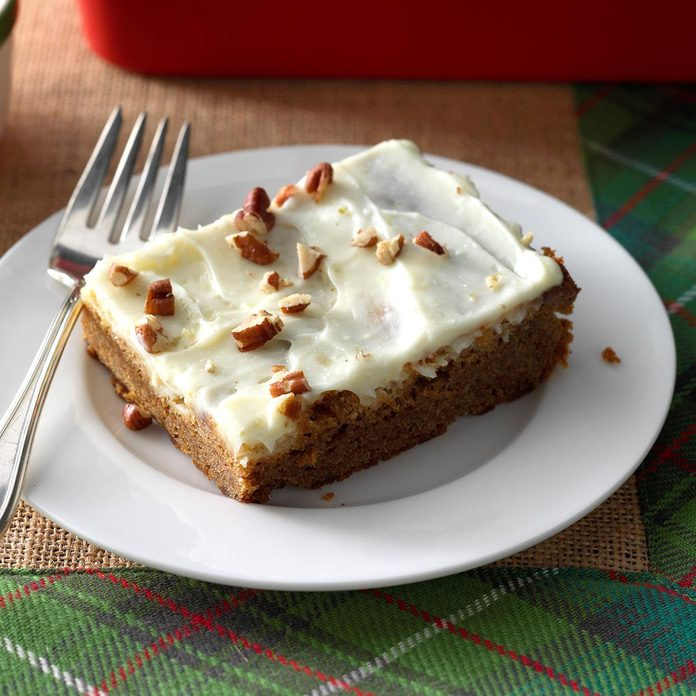 Gingerbread with Lime Cream Cheese Frosting