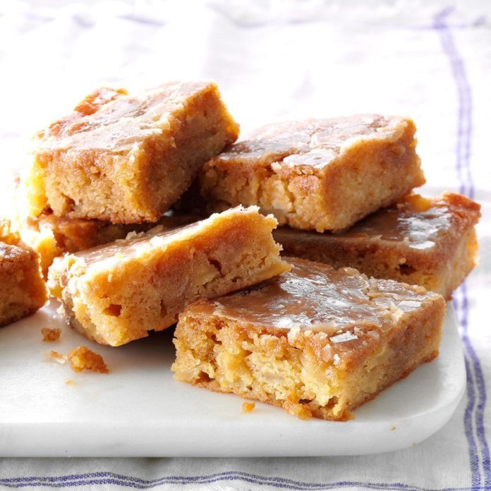 Glazed Apple-Maple Blondies