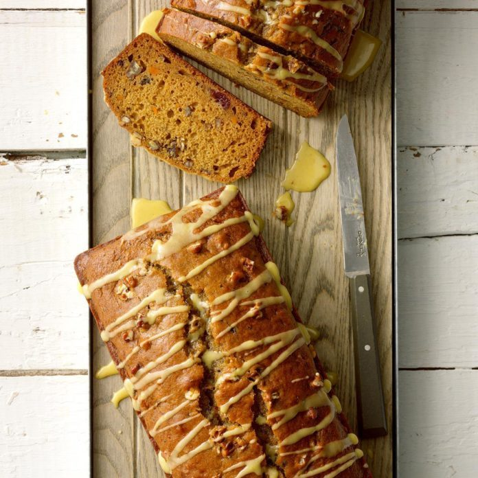 Glazed Cranberry Sweet Potato Bread