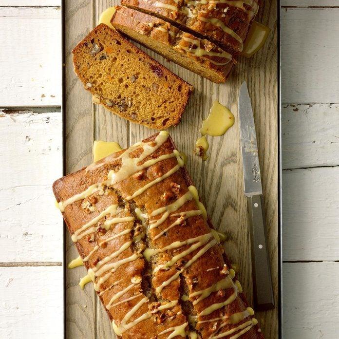 Mississippi: Glazed Cranberry Sweet Potato Bread