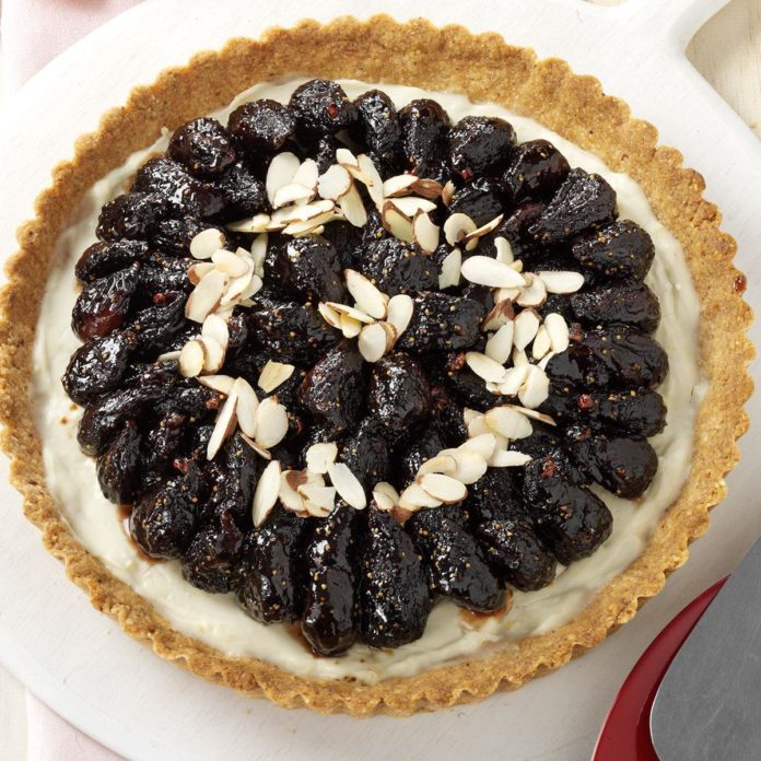 Glazed Fig & Almond Tart