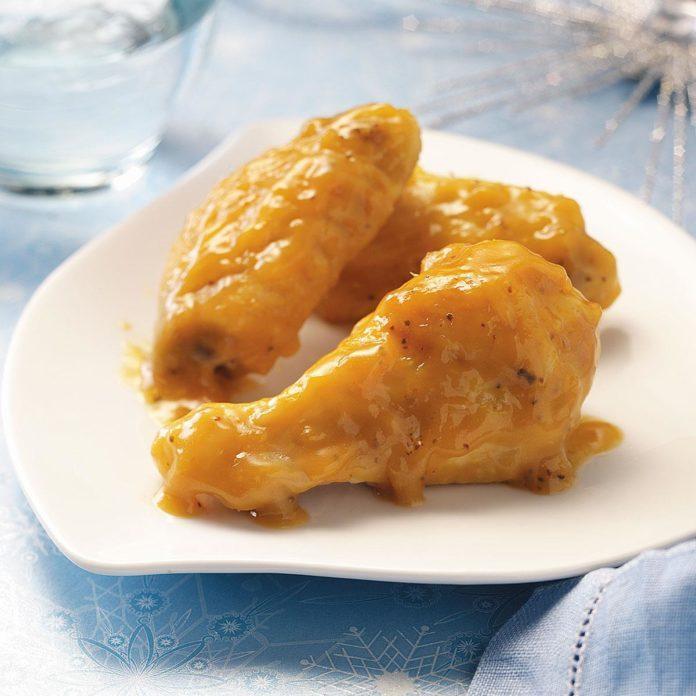 Glazed Orange Chicken Wings