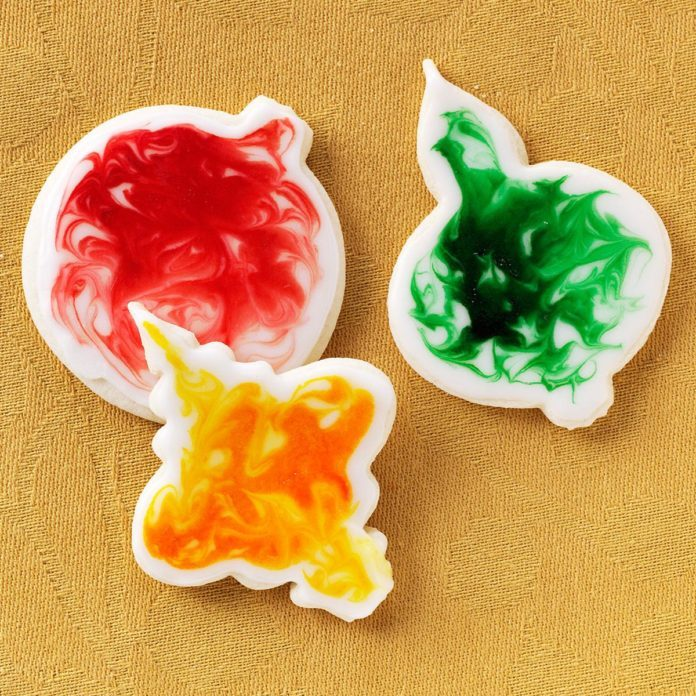 Glazed Ornament Cookies