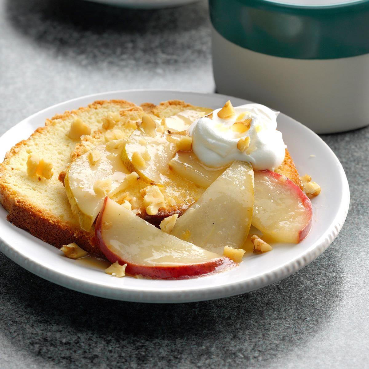 Glazed Pear Shortcakes