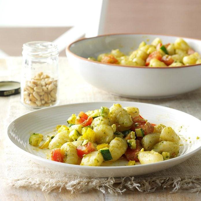 Gnocchi with Pesto Sauce
