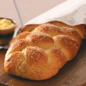 Golden Braided Sesame Bread