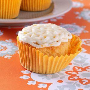 Golden Orange Cupcakes