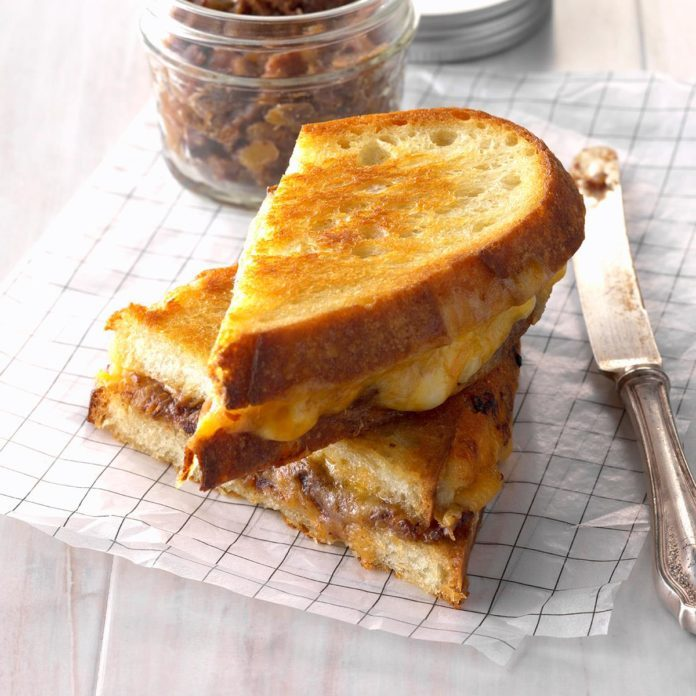 2nd Place: Gourmet Grilled Cheese with Date-Bacon Jam