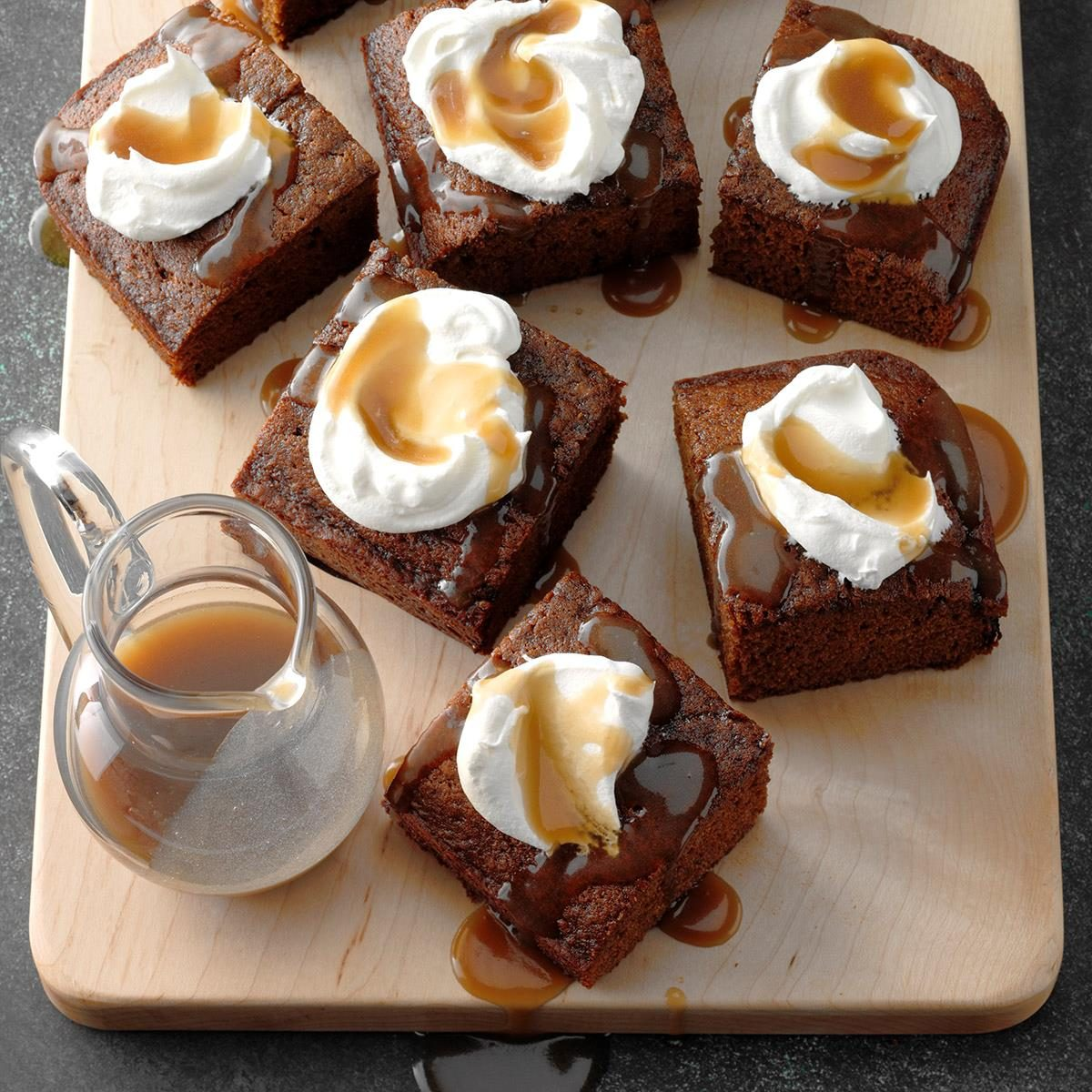 Granny's Gingerbread Cake with Caramel Sauce