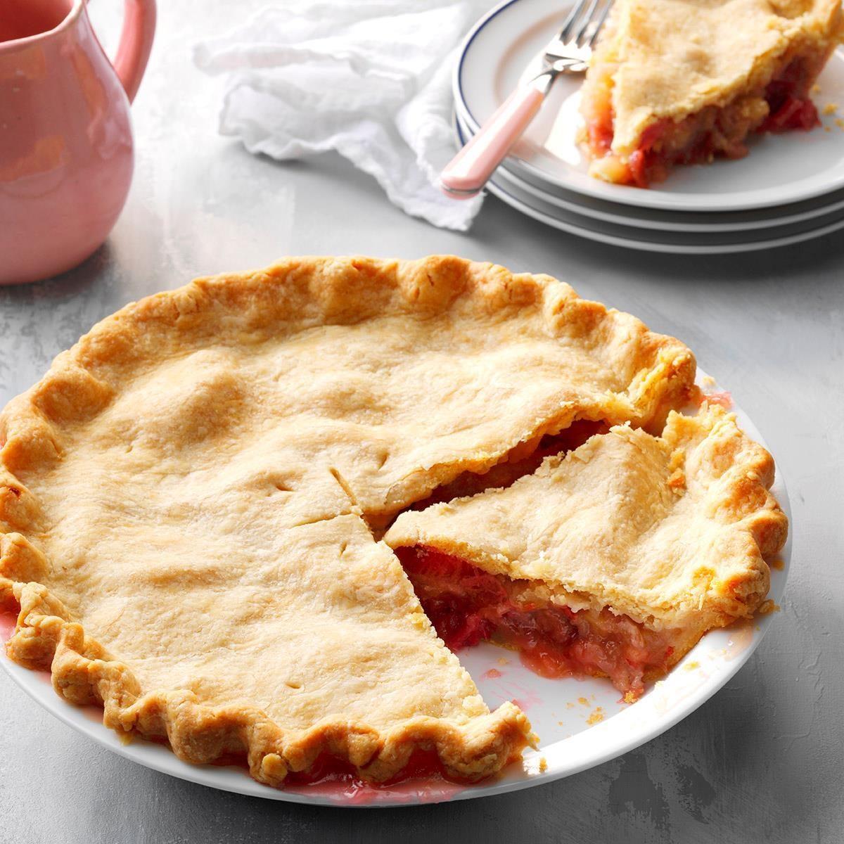 Granny's Rhubarb Pie Recipe | Taste of Home