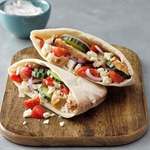 Greek Grilled Chicken Pitas