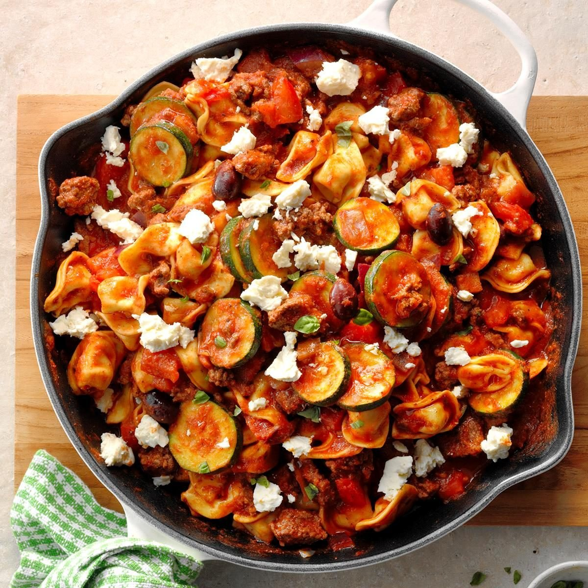 Easy Supper Recipes: Greek Tortellini Skillet Recipe