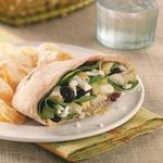 Greek Salad with Bean Spread Pitas