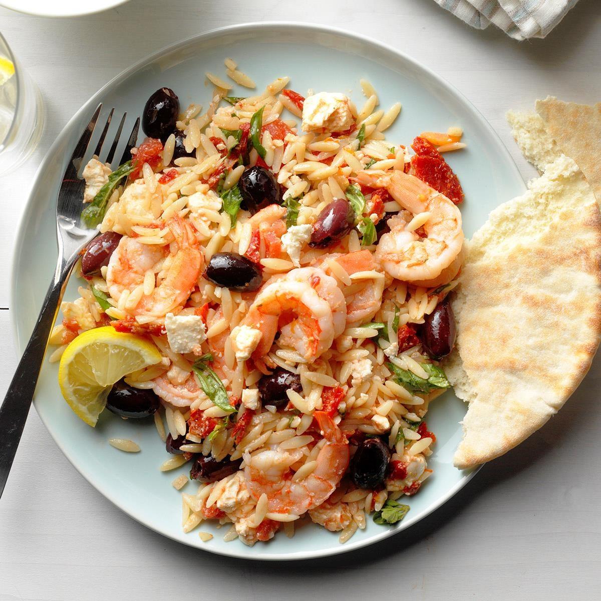 Day 1: Greek Shrimp Orzo