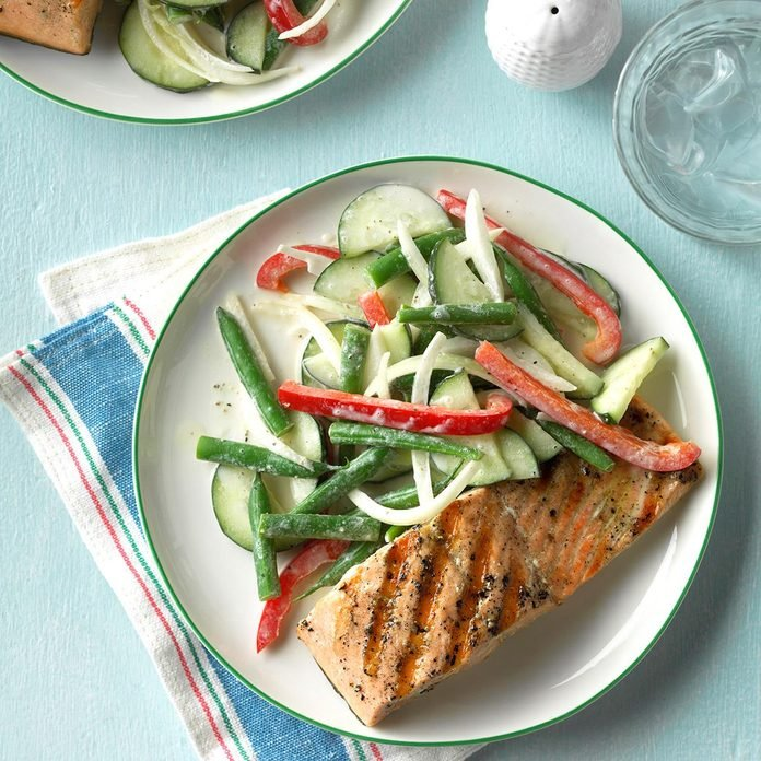 Green Bean Salad With Creamy Dressing Exps Cwjj17 25744 C02 23 6b 2
