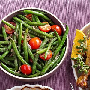 Green Beans with Tomatoes & Basil