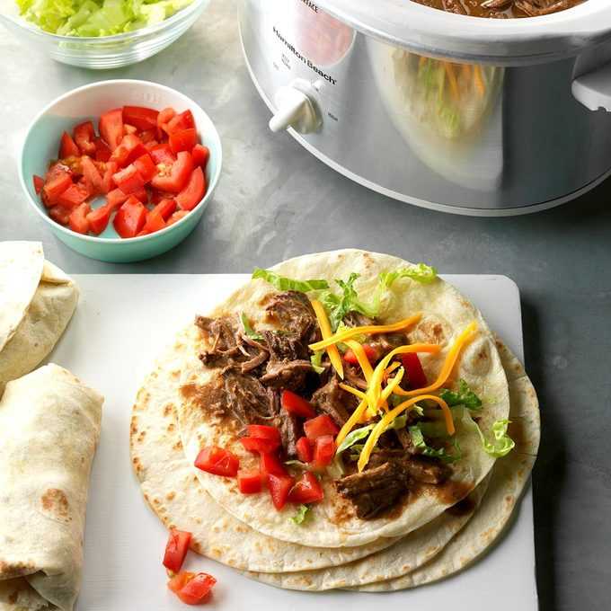 Green Chile Beef Burritos
