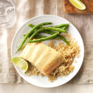 Green Curry Salmon with Green Beans
