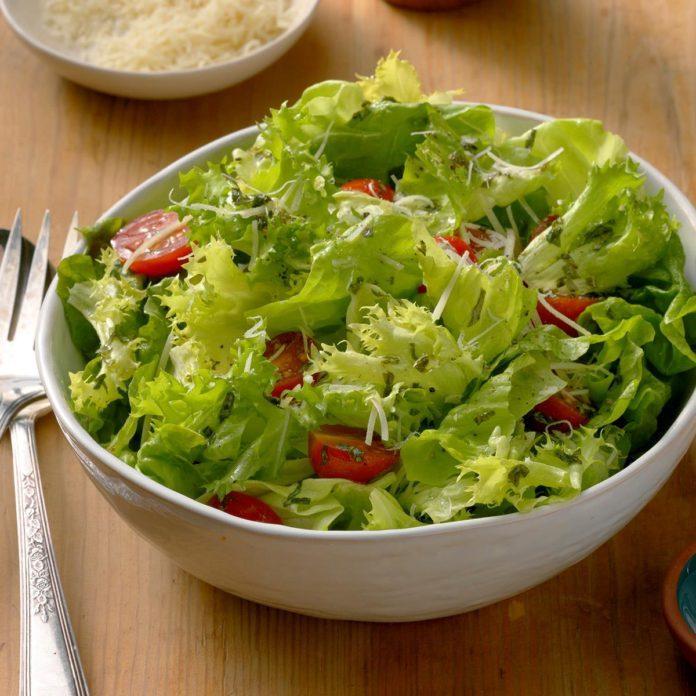 Green Salad with Tangy Basil Vinaigrette