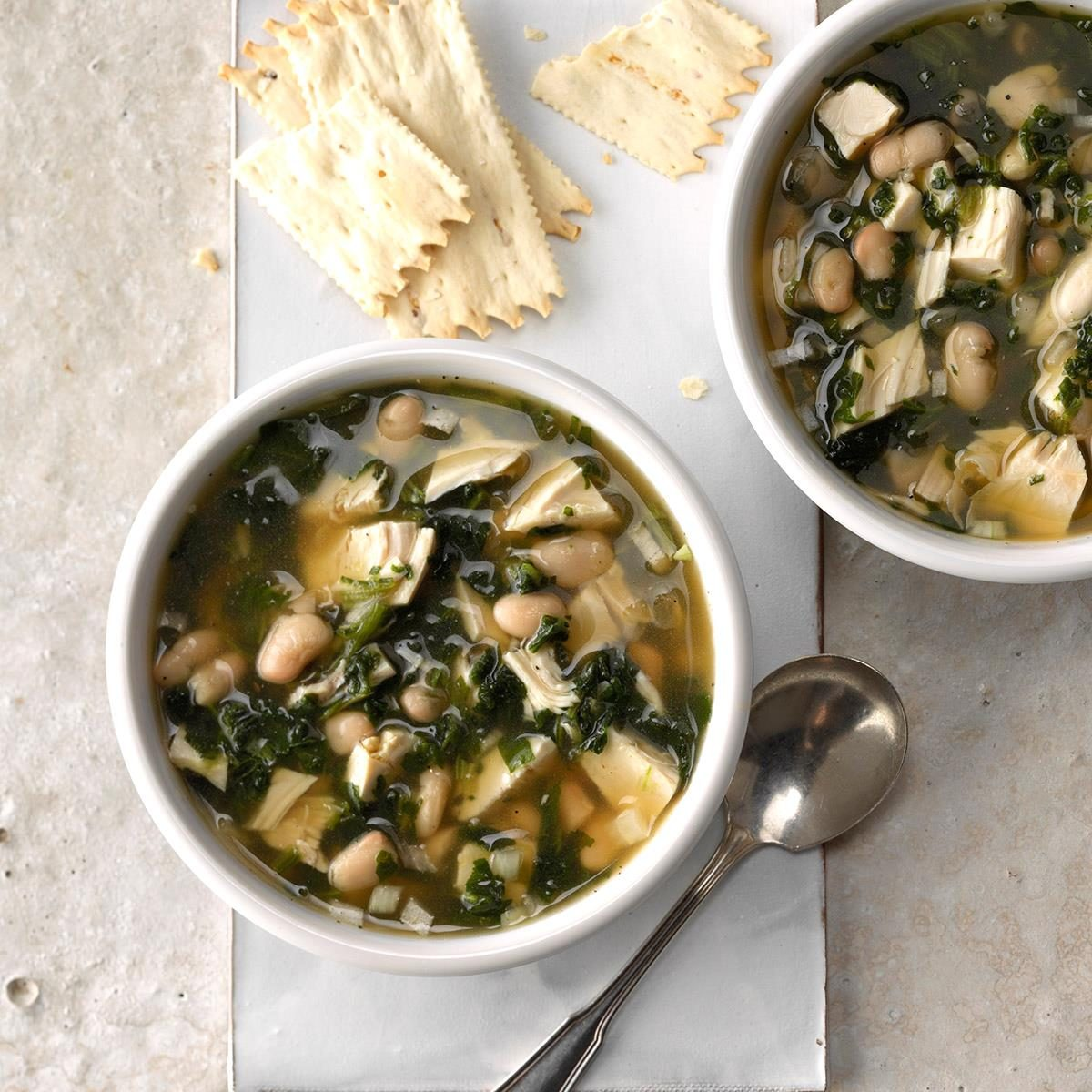Greens and Beans Turkey Soup