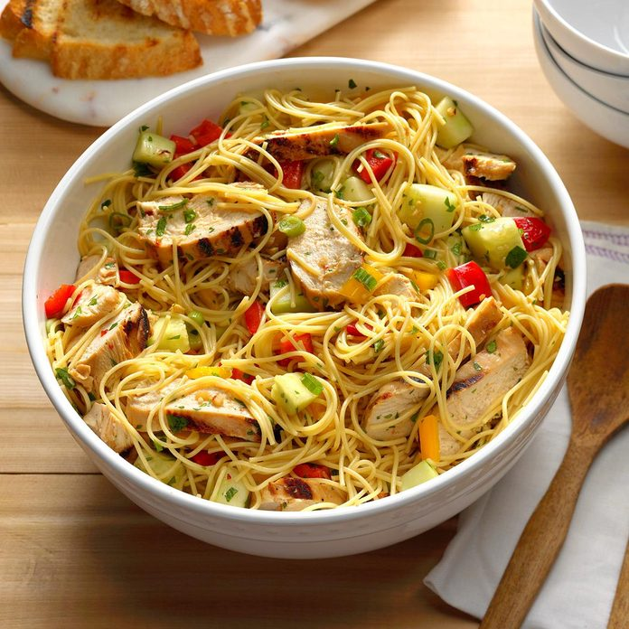 Grilled Asian Chicken Pasta Salad