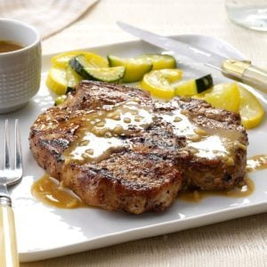 Grilled Bourbon Chops