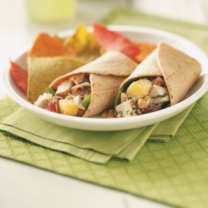 Grilled Chicken Salad Wraps