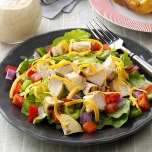 Grilled Chicken on Greens with Citrus Dressing
