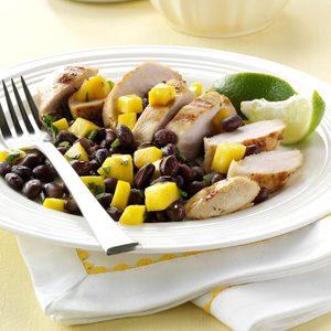 Grilled Chicken with Black Bean Salsa